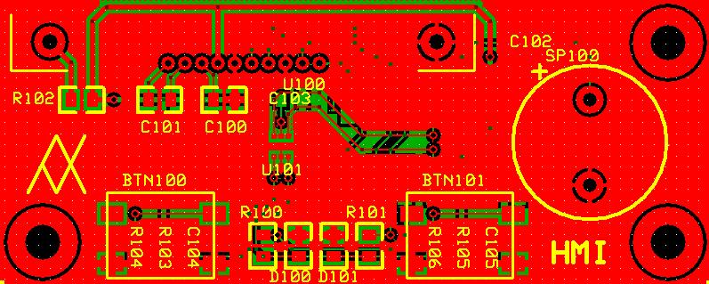 HMI PCB Top, Bottom and Silkscreen Layers