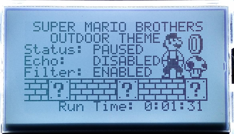 Super Mario Music Display Screenshot
