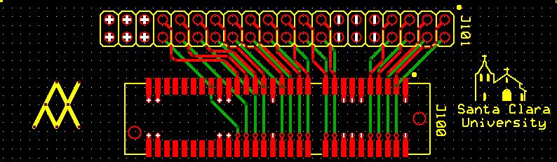 Back-plane PCB Top, Bottom and Silkscreen Layers
