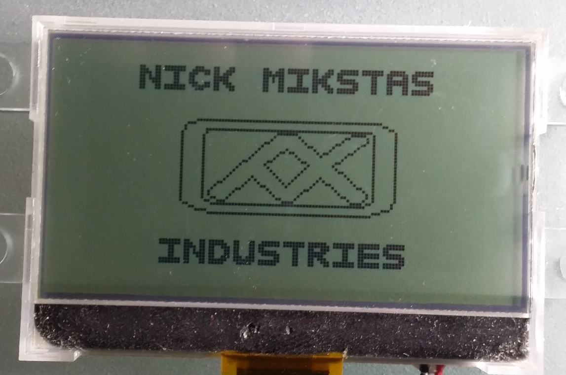 LCD With Graphic Rotating About X Axis