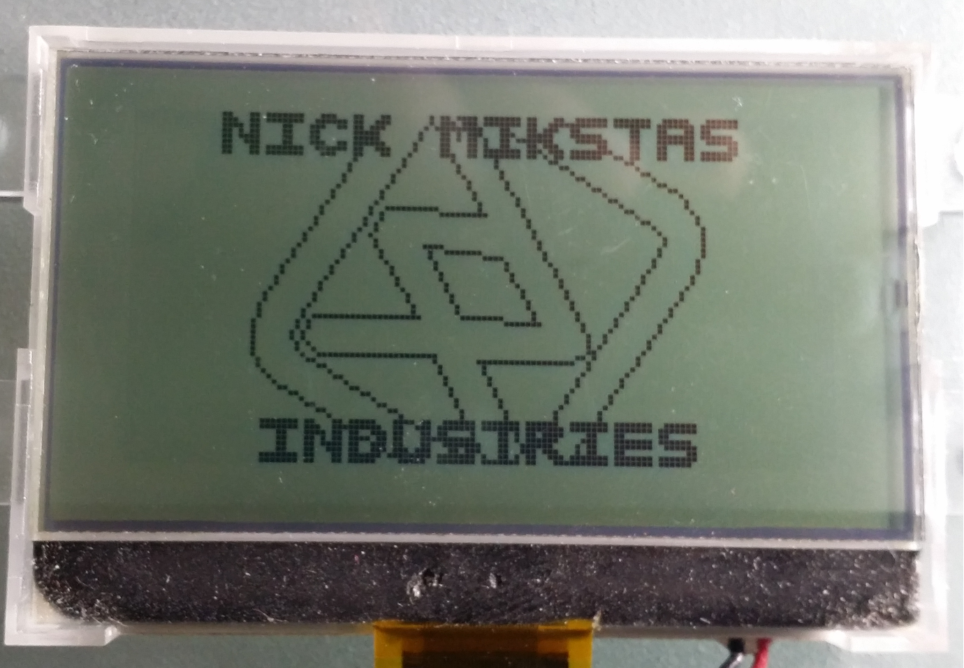 LCD With Graphic Rotating About Z Axis