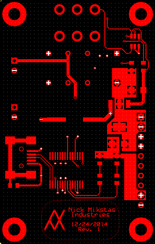 LCD Power PCB Top Layer