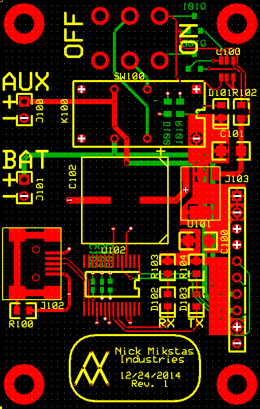LCD Power PCB Top, Bottom and Silkscreen Layers