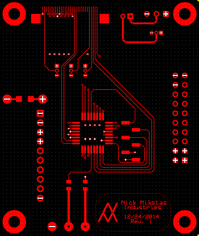 LCD Controller PCB Top Layer