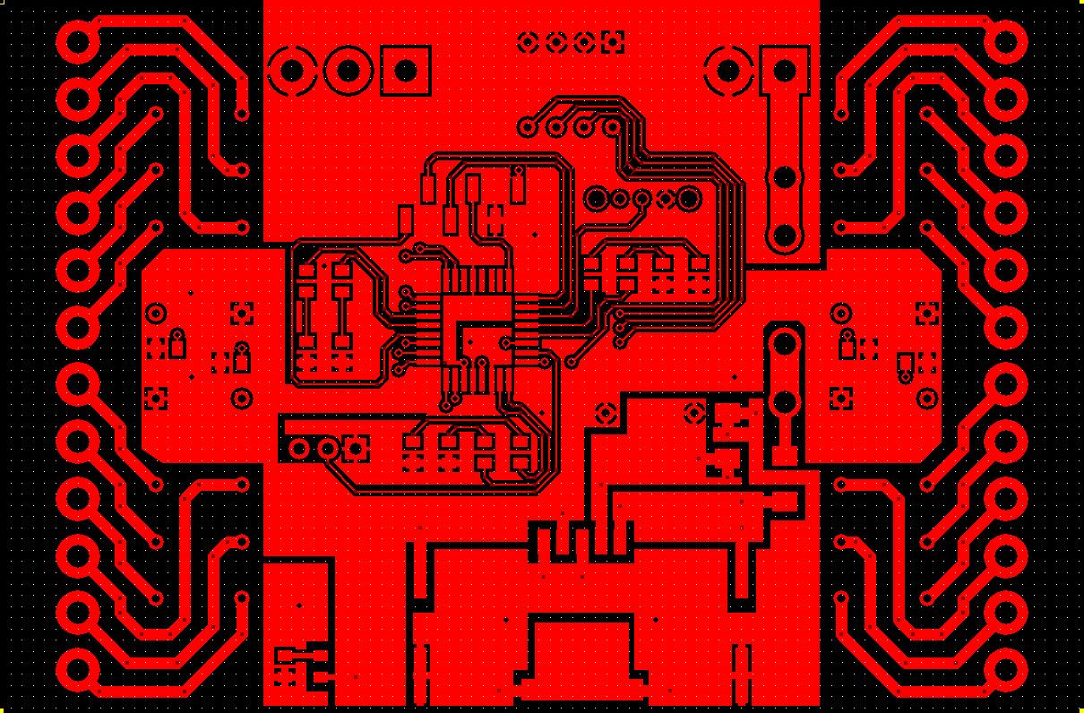 Modbus Relay Card PCB Top Layer