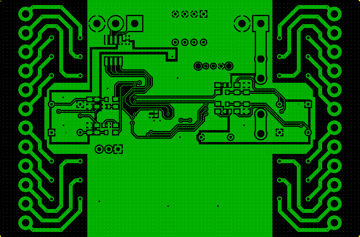 Modbus Relay Card PCB Bottom Layer