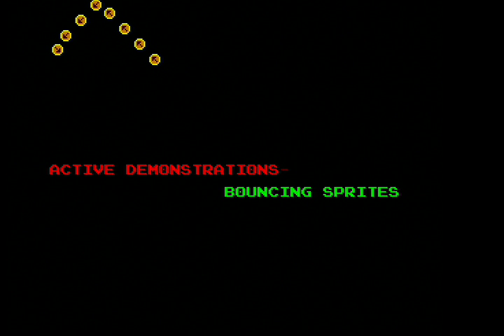 NMPSM3 Bouncing Sprites Demonstration