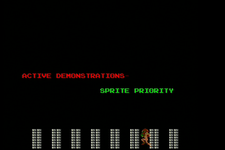 NMPSM3 Sprite Priority Demonstration