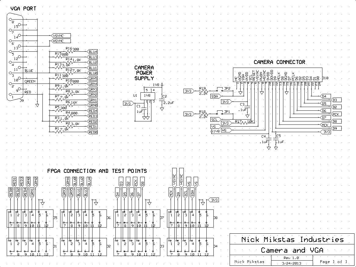 Camera Board Schematic