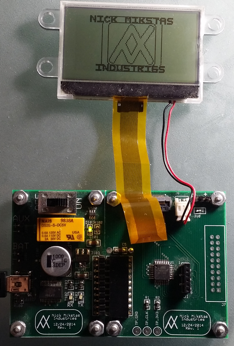 LCD Project Assembled With Active Display