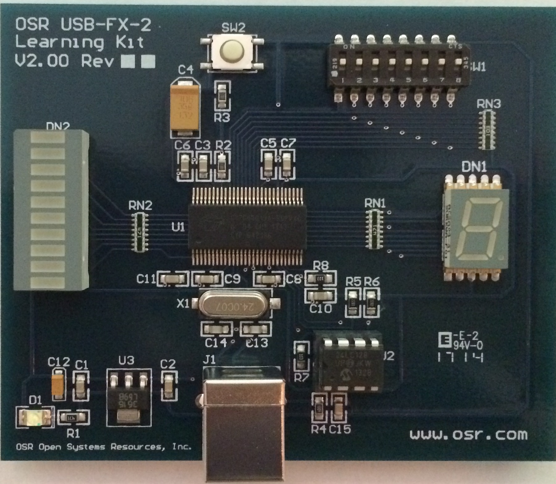 OSR USB FX2 Learning PCB