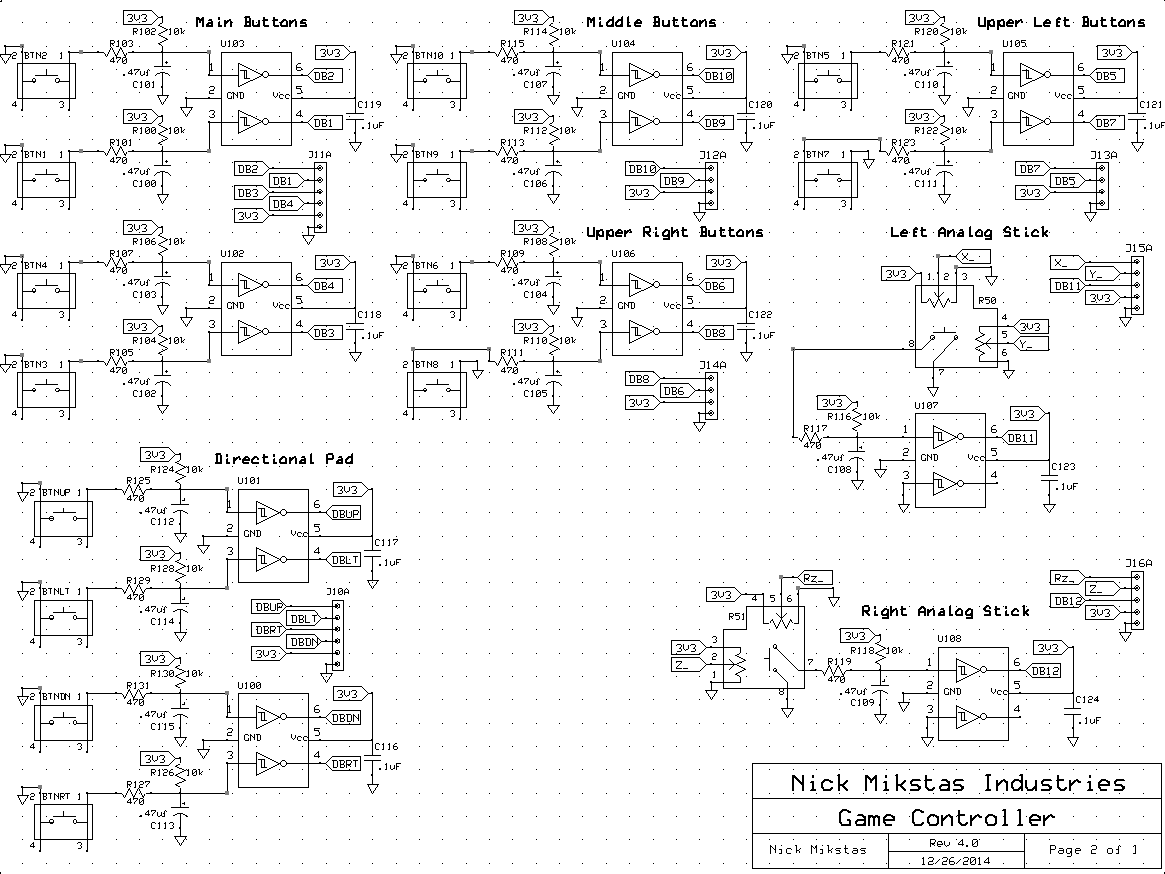 Video Game Controller Schematic Page 2
