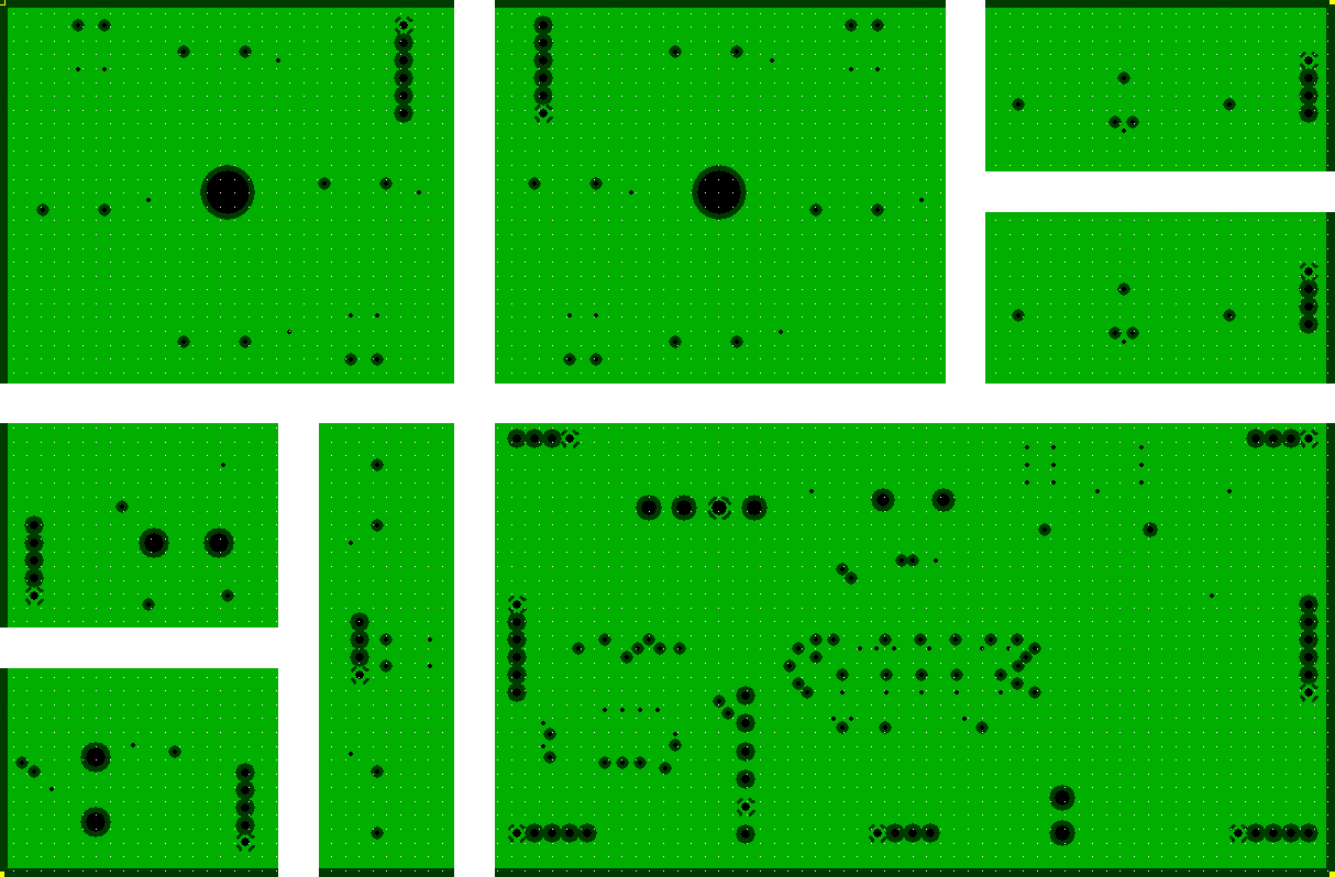 Video Game Controller PCB Ground Layer