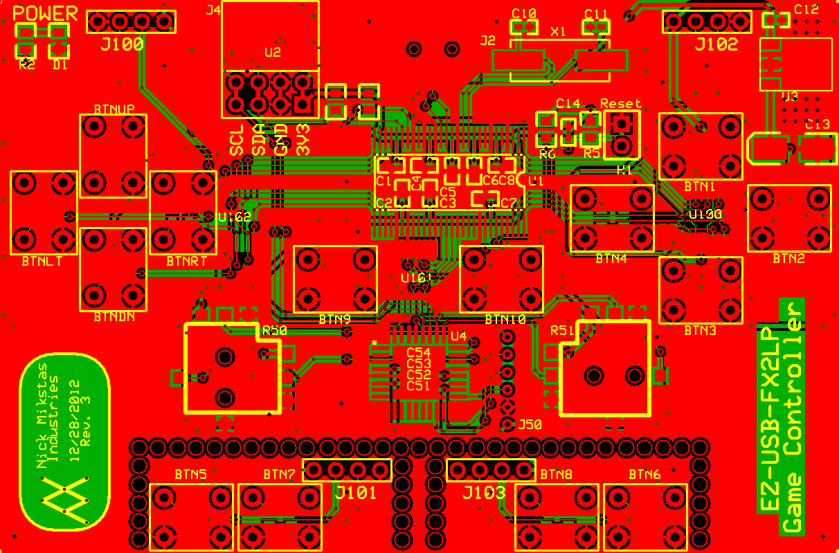 Old Controller PCB Top, Bottom and Silkscreen Layers