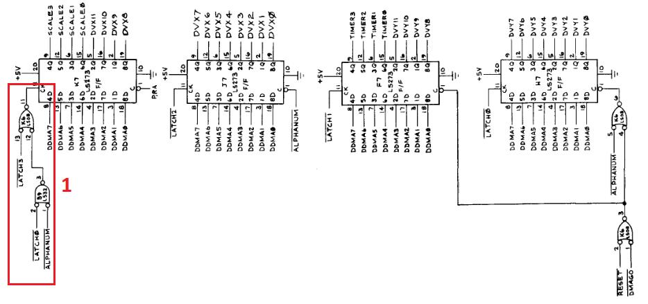 Memory data latches schematic