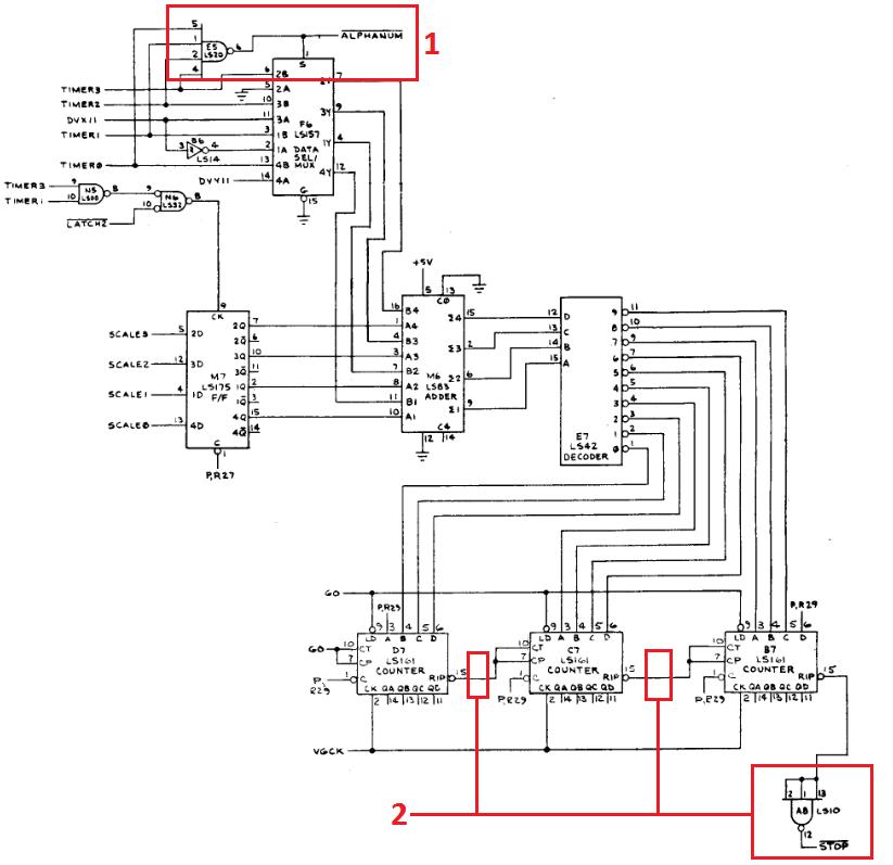 Vector timer schematic