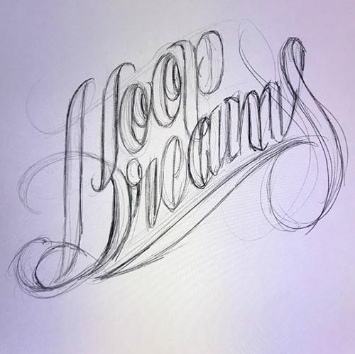 Hoop Dreams concept lettering