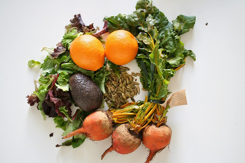 Beet & Blood Orange Salad Ingredients