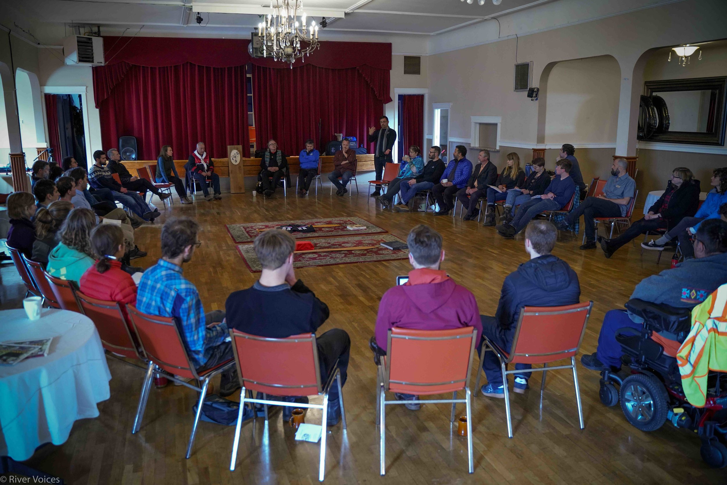 Eli Enns leading a workshop on Indigenous Protected and Conserved Areas in Victoria, BC, Canada (2019)