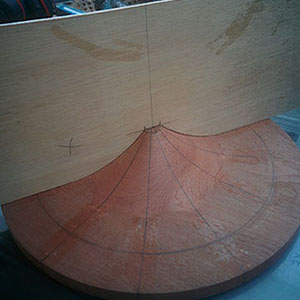 1. The assembly mould has been turned on a lathe then marked out in 12 segments of 30 degrees each.