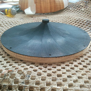 29. The finished cone has been stained black ready for mounting in the instrument