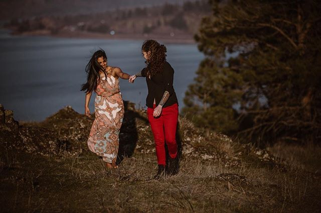 Autumn and Kaylynn were such an amazing couple to work with. The love in these engagement photos is tangible. ❤️ , , , , , #loveislove #engagementphotos #oregoncouple #holdmyhand #justalittleloveinspo #thedapperbride #offbeatbride #lovewins #theysaidyes @loveincmag