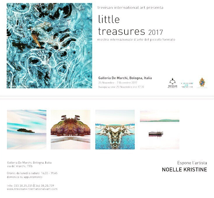"""Little Treasures 2017  Trevisan International Art  Galleria De Marchi, Bologna Italy  November 25 - December 7, 2017  """"Liittle Treasures"""" exhibition, the international art event that every year fills the walls of the De Marchi gallery with paintings and photographs. An event which brought a quantity of fresh international art to Bologna, thanks to Paola Trevisan's Trevisan International Art, a brand that has made the quality of artistic research its mission"""