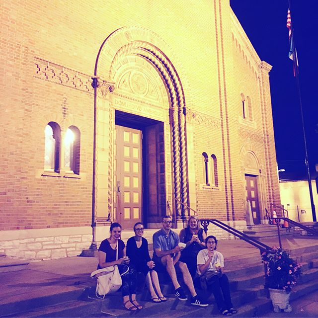 A gorgeous night for gelato on the steps of St. Ambrose. #thehillstl #meetthecity #makenewfriends #stlouisgram