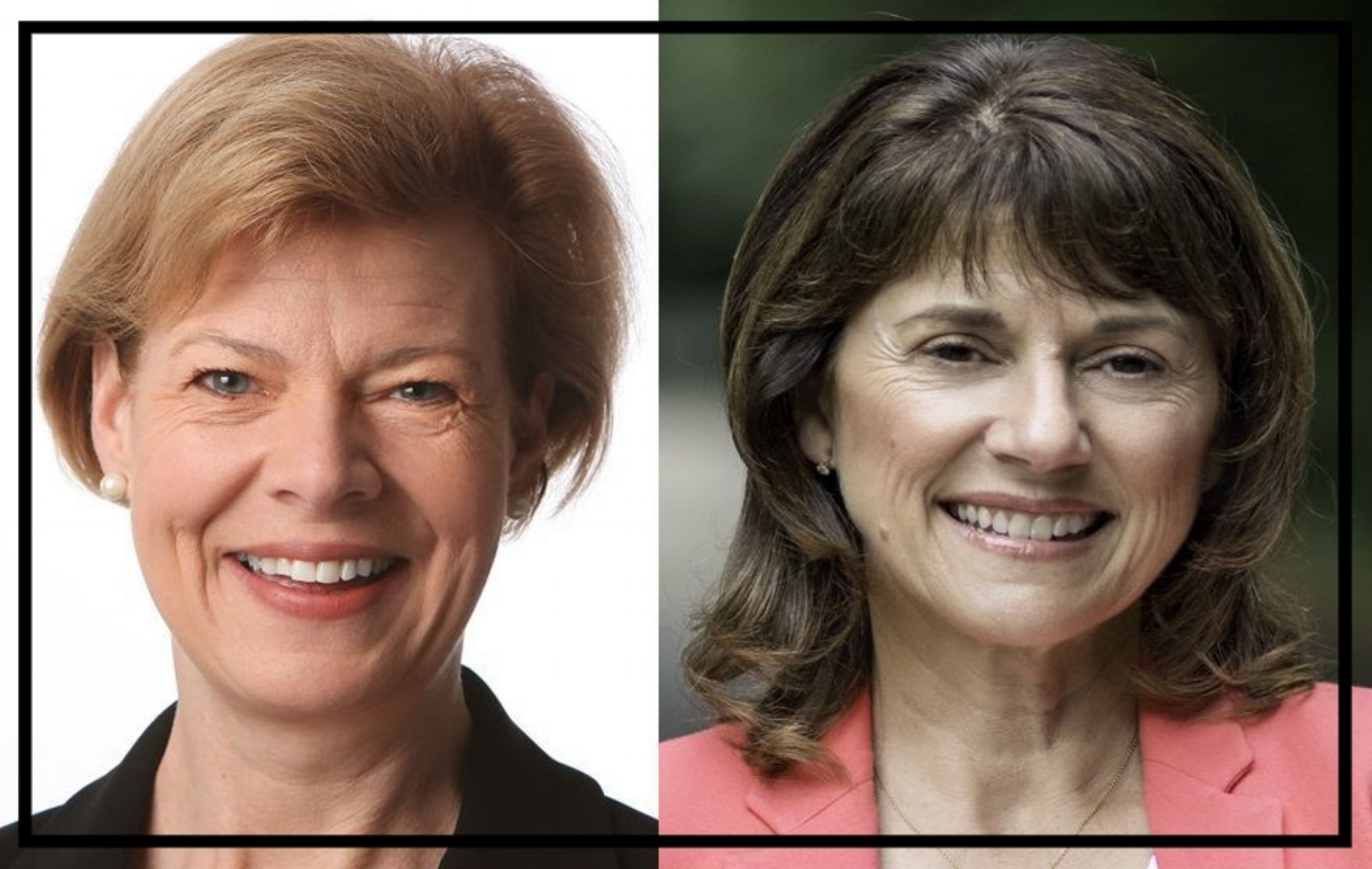 Tammy Baldwin and Leah Vukmir of Wisconsin