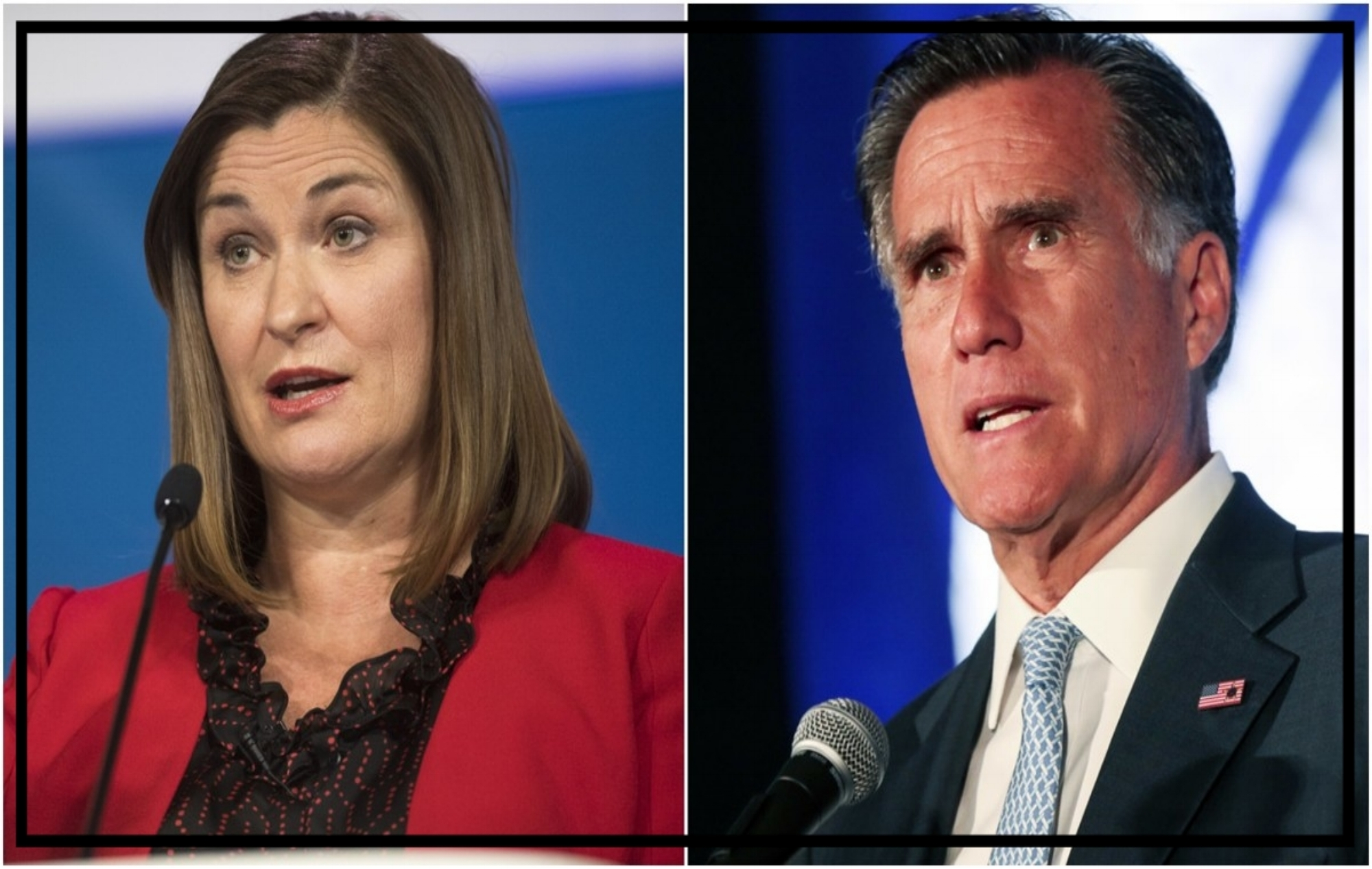 Jenny Wilson and Mitt Romney of Utah
