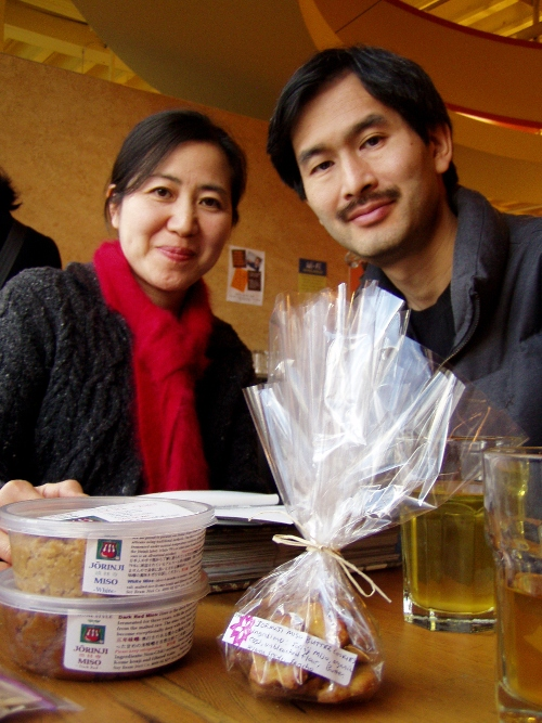 Sumiko and Earnest Migaki are working on a local chickpea miso