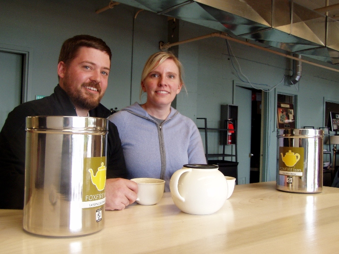 Tea time with Quinn and Katherine Losselyong owners of Foxfire Teas
