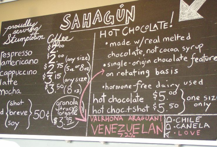 Would she like a single origin Sahagún hot chocolate?