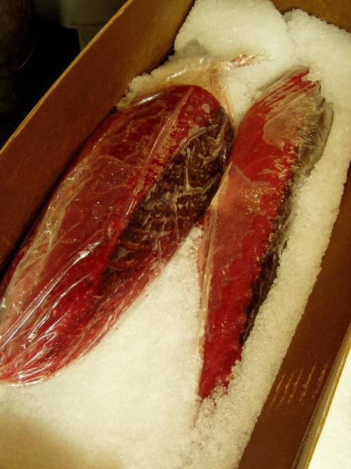 One of the prettiest fish Cleary's seen all year -- the latest delivery of Kona yellowfin tuna