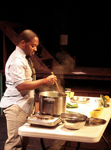 In March Slow Food Portland hosted Bryant Terry author of Vegan Soul Kitchen at the Interstate Firehouse Cultural Center for a book event and cooking demo.