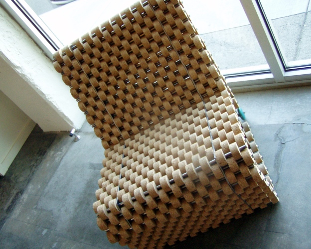 I really like this cork chair in the Boedecker tasting room.