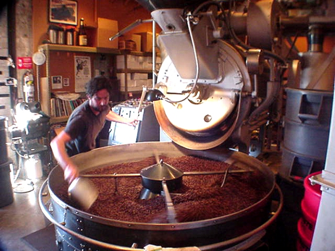 I took this photo several years ago at the Division Street roastery.