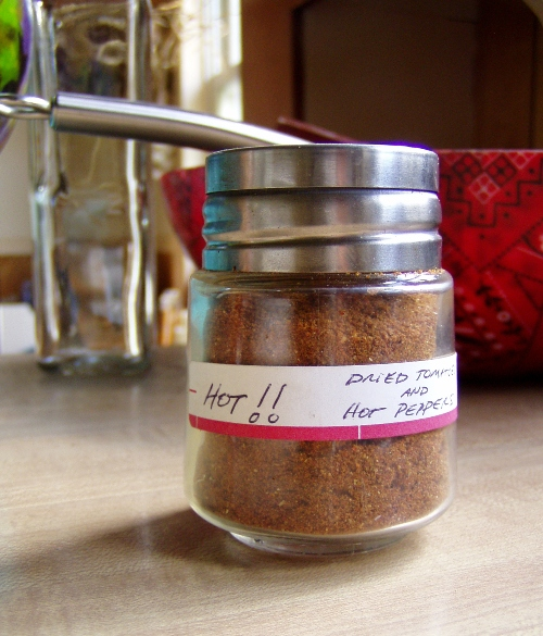 Anthony and Deb's habanero, cayenne and tomato powder.