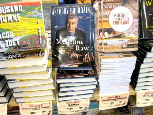 The first time I saw my book in a store was at Powell's City of Books at the Orange Room info. desk. Next to the one and only!