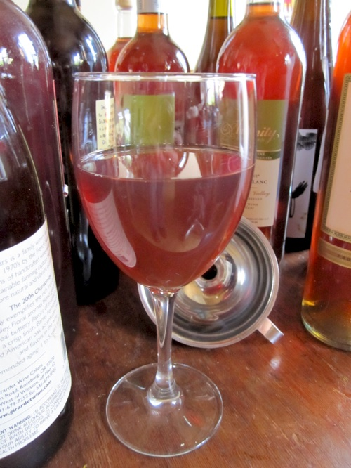 This homemade plum wine is better than our cherry wine.