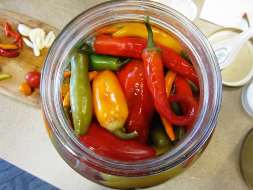 Anne Berblinger's spicy delicious fermented chiles.