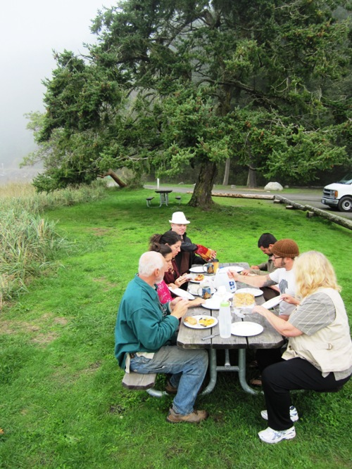 We got to spend a couple days and nights with great friends on Lopez and before we set off again we had this Odlin Bay picnic with really good sandwiches that Sandy made and all sorts of cheese, chips and snacky goodness.