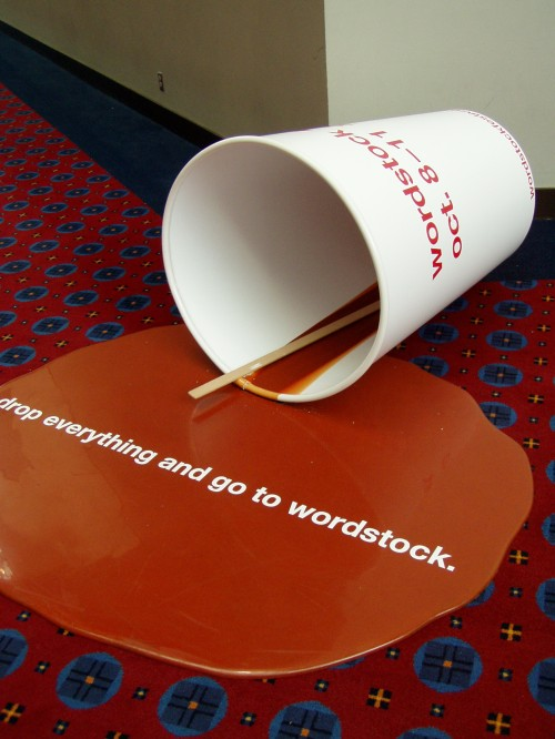 I took this photo at last year's Wordstock. Drop everything for this year's this weekend.