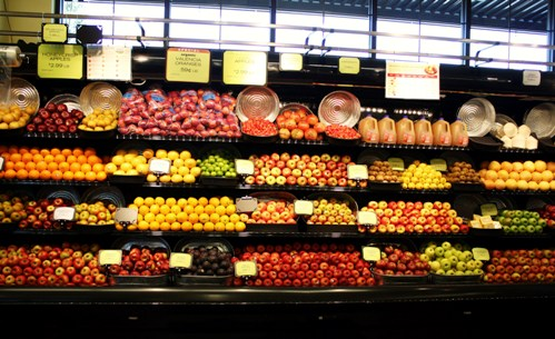 Look at dem apples. The produce department a day before the grand opening at the newest Hawthorne New Seasons Market.