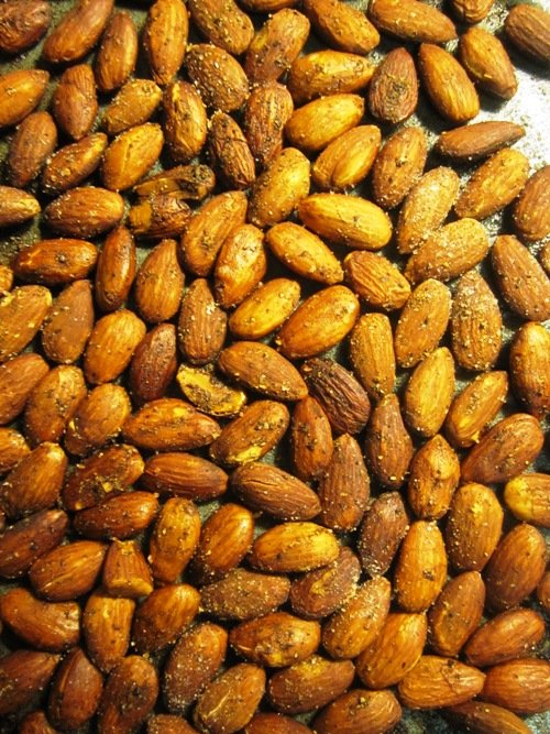 It might be a little tricky sourcing the mango powder (aka amchur powder) for these garam masala roasted almonds but it's worth the hunt. If you're in Portland Fiji Emporium on North Interstate is a great spot for East Indian ingredients.