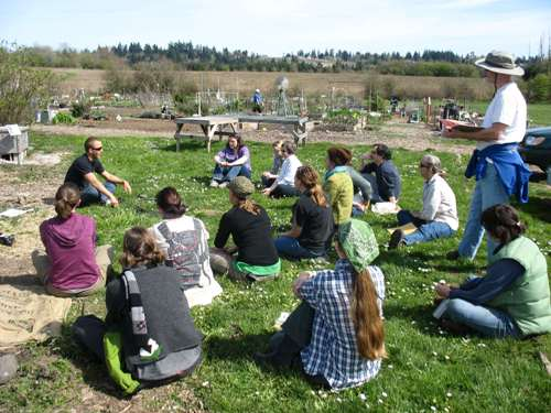 One of last year's Oregon Tilth Urban Growth Bounty classes at Luscher Farm.
