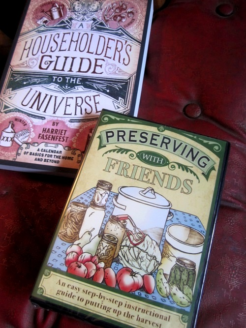 Peas in a pod. Hariet Fasenfest's new DVD Preserving with Friends is fantastic! So is her book...