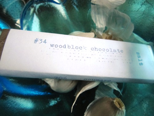 We got a couple Woodblock Chocolate bars from the makers themselves. Delicious!