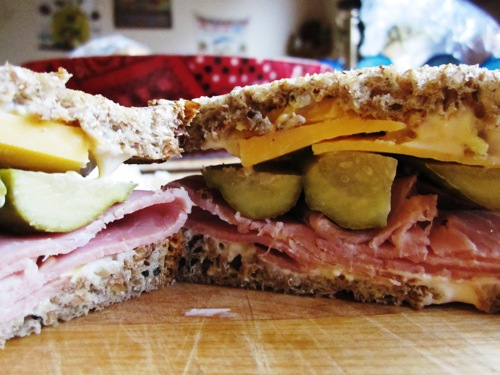 Spicy MoonBrine Pickles really made this ham sandwich. Freaky good.