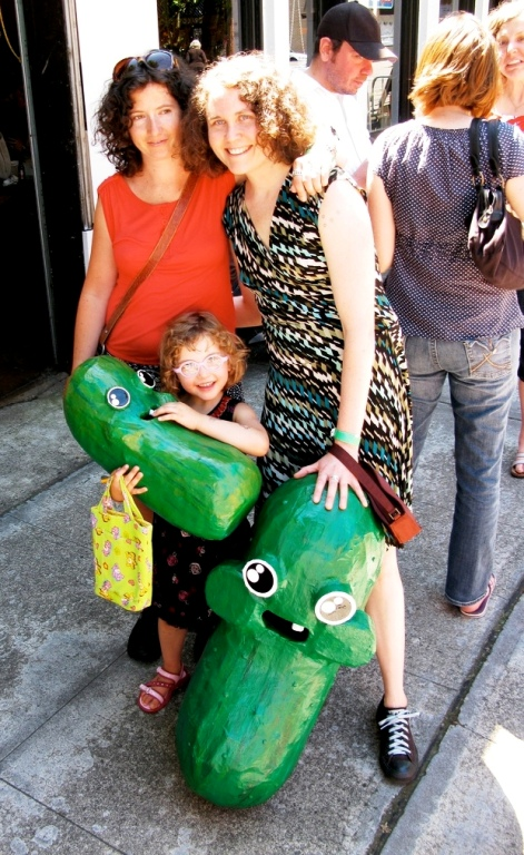 Further evidence of my pickle obsession -- me and friends at Kenny & Zuke's Pickle Throwdown earlier this summer.